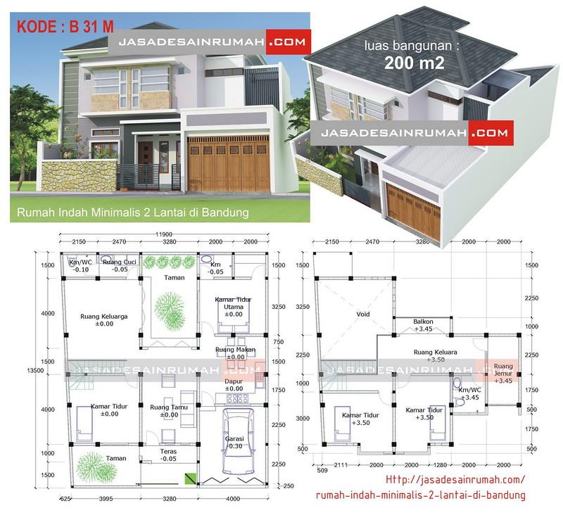 Desain Rumah Minimalis Luar Dan Dalam  rumah indah minimalis 2 lantai di bandung jasa desain rumah