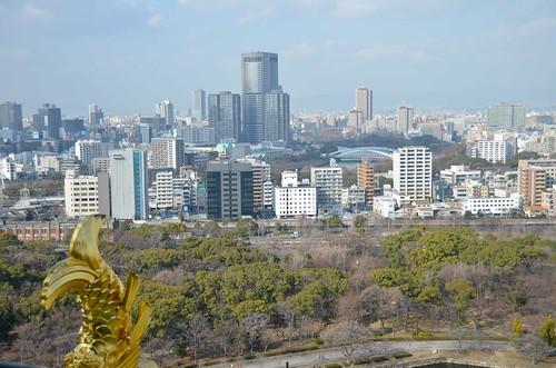 From atop Osaka-jo