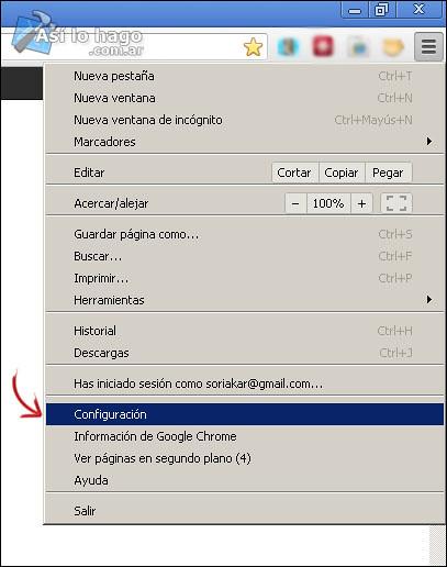 Seleccionar > Configuración