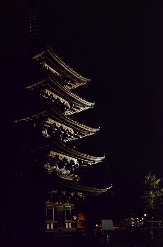 Part of Kofuku-ji at Night