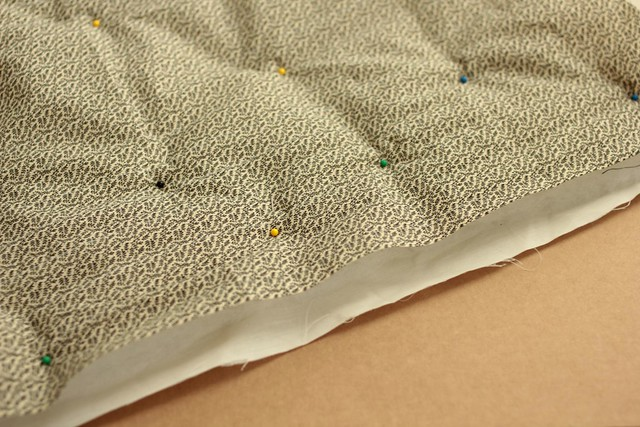 cotton batting quilted fabric