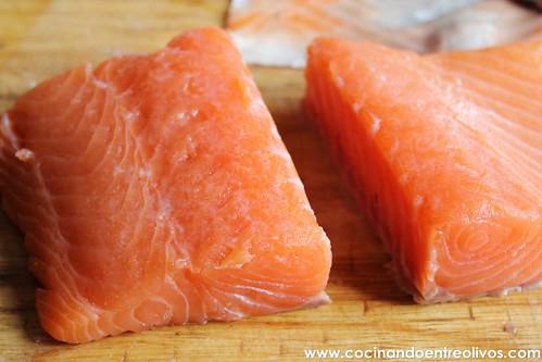 Tataki de salmon en nido de nabo daikon (6)