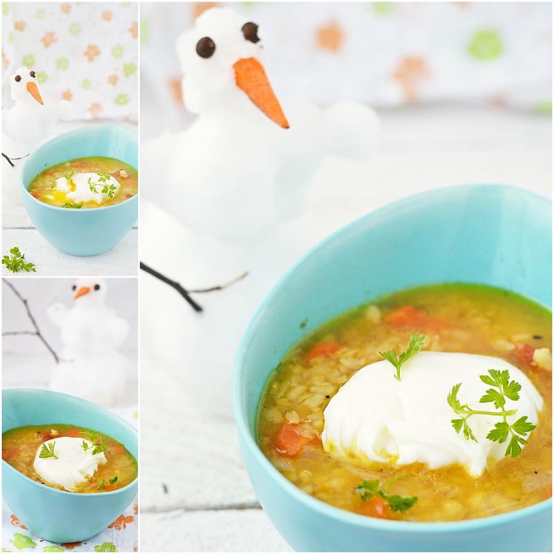 коллаж суп с белым машем и яйцом пашот.1
