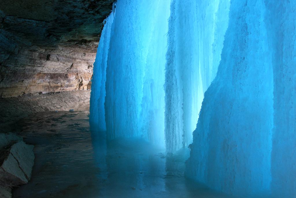 Behind Minnehaha Falls