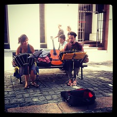 Concertina practice.