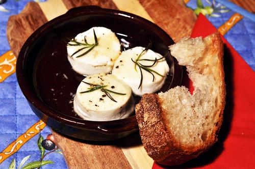 Ziege Ziegenkäse Ziegenfrischkäse Dessert Käsedessert Honig Lavendelhong Rosmarin