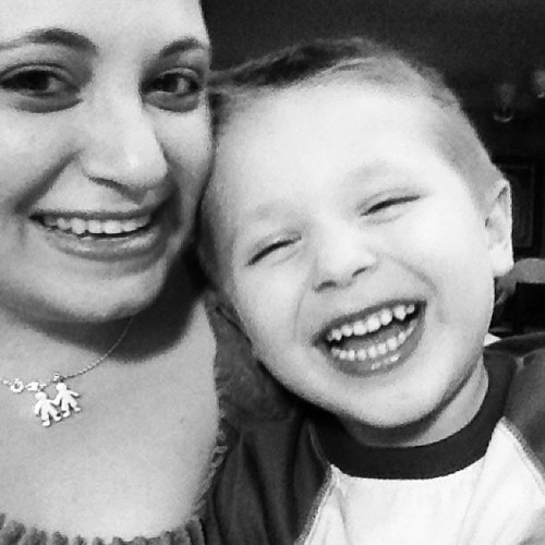 Laughing with my Zachary. I'm such a #lucky #mommy to have such a wonderful #child! #projectlife365