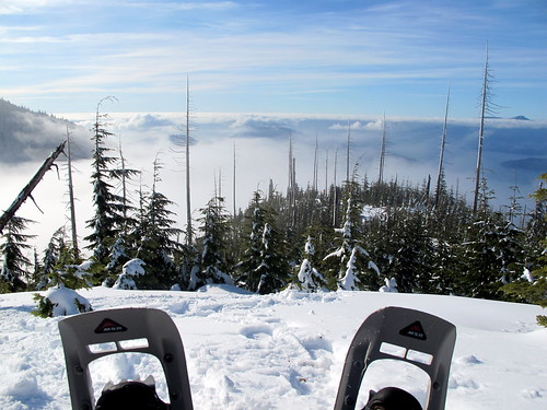 Snowshoeing with a View