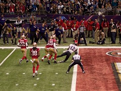 Jacoby Jones Dives for Touchdown
