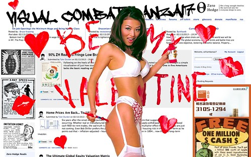 ZERO HEDGE VALENTINE 2013 by Colonel Flick/WilliamBanzai7