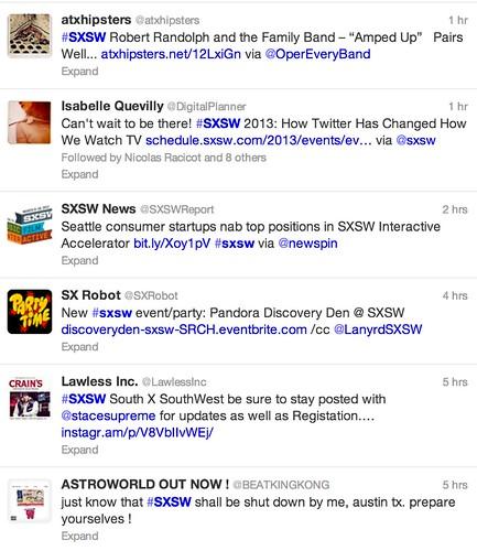 Twitter / Search - #sxsw