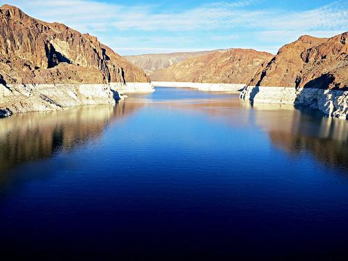 usa water river landscape concrete unitedstates dam nevada hooverdam lakemead coloradoriver bouldercity canonpowershots100
