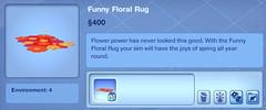 Funny Floral Rug