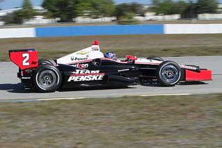 AJ Allmendinger on track