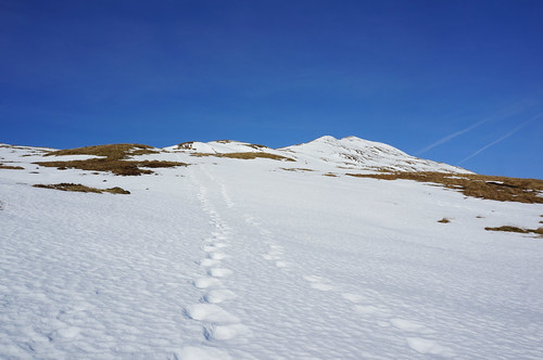 Heading up the shoulder towards Meall nan Tarmachan