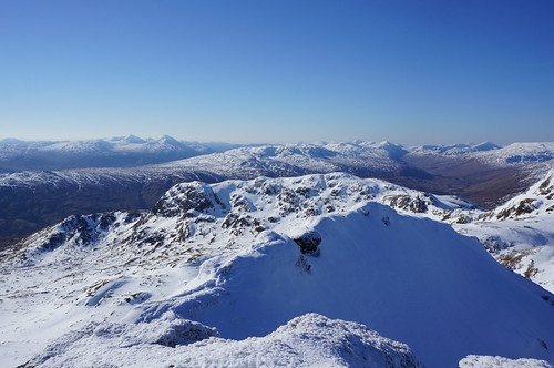 Looking Southwest from the Summit of Meall Garbh