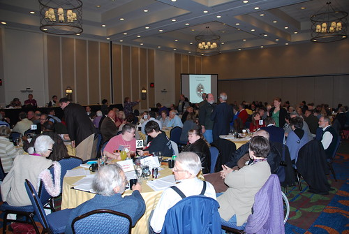 <p>On Saturday morning, convention business began again with elections and voting on resolutions.</p>