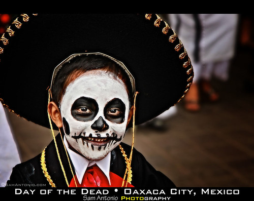 All Smiles at the Day of the Dead in Oaxaca City, Mexico by Sam Antonio Photography