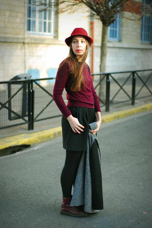 vieux pull et jupe zara