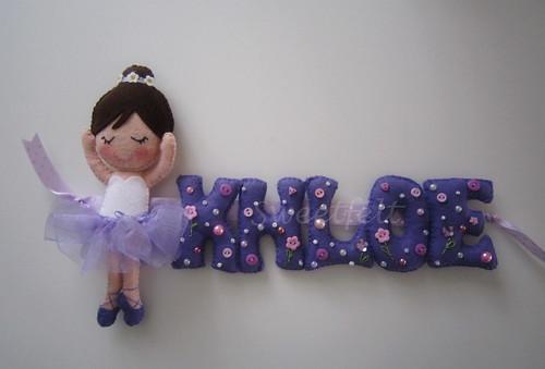 ♥♥♥ Letrinhas para o aniversario da  Kloe... by sweetfelt \ ideias em feltro