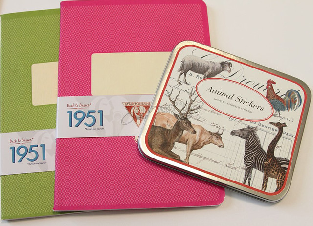 Clairefontaine Le Carnet & Weird Animal Stickers