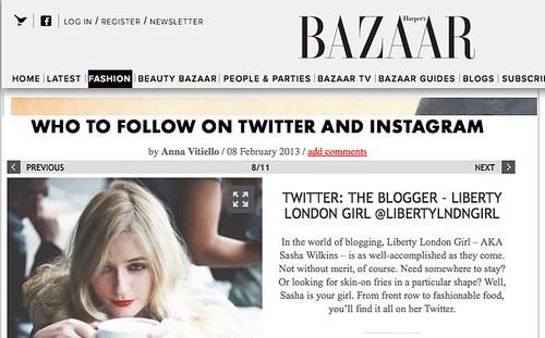 Harper's Bazaar Sasha Wilkins