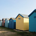 Beach Huts by zoe toseland