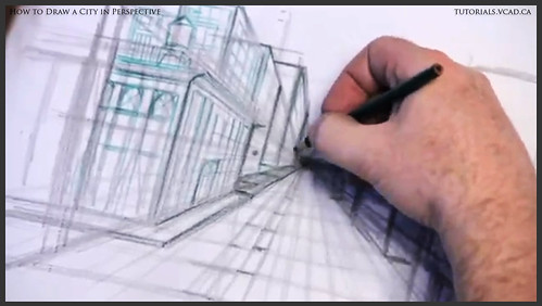 learn how to draw city buildings in perspective 014