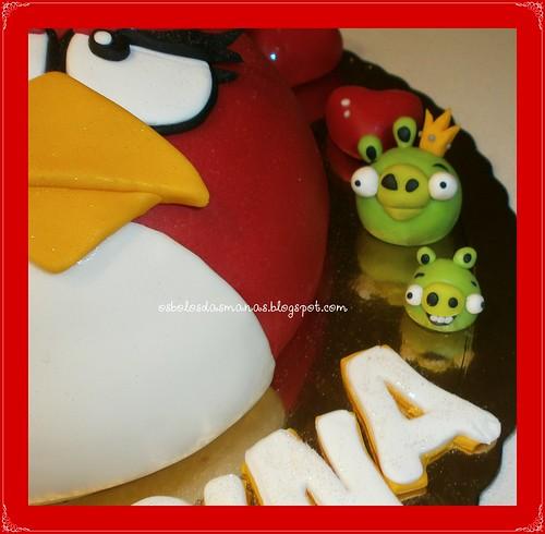 Detalhe Bolo Angry Birds I by Osbolosdasmanas