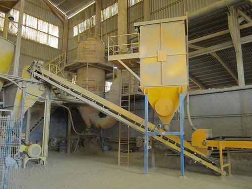 Instal·lacions de l'empresa ARGILES COLADES SA de Corçà.