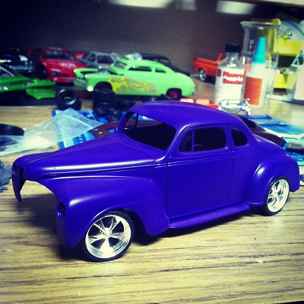 '41Plymouth WIP Hide the nail polish ladies! #scalemodel #plymouth #plasticmodel
