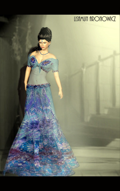 Arun Gown Blue