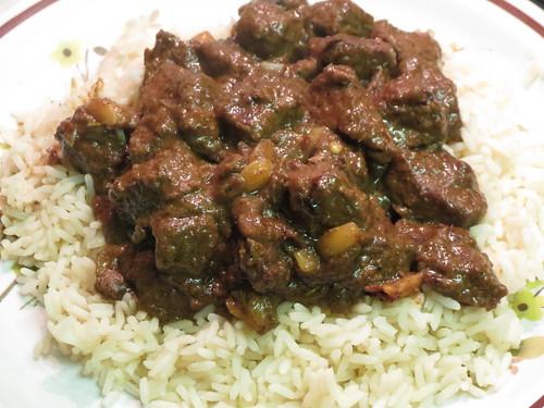 Cambodian saraman beef curry
