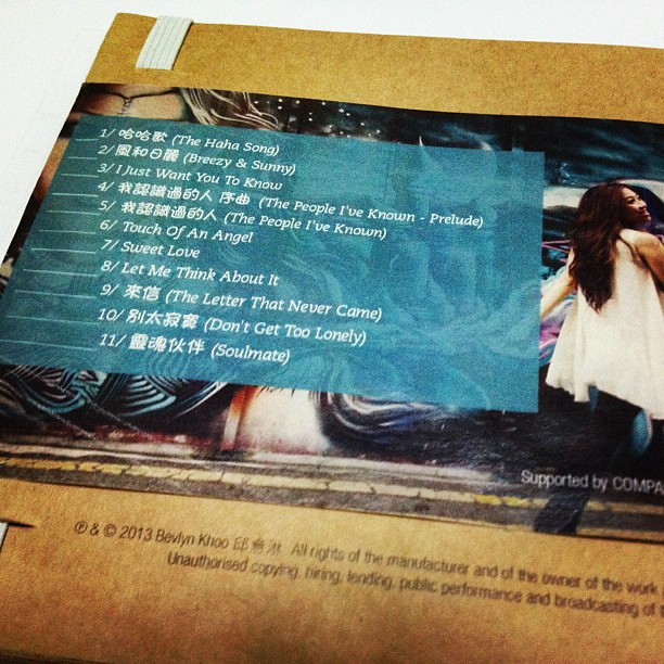Back cover of the new album !