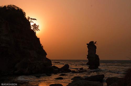 sunset sea rock japan landscape nikon ngc 日本 松島 島根県 d7000 大田市 02景色 掛戸松島