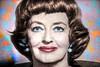 Autumn Leaves Surround Mature Movie Star Bette Davis by Walker Dukes