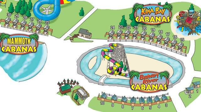 Bahari River Cabana locations