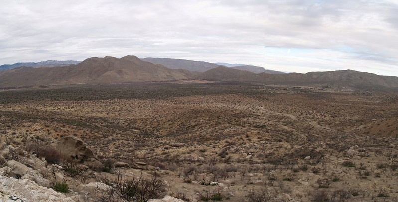 PCT panorama view north of the San Felipe Valley from the north slope of Granite Mountain