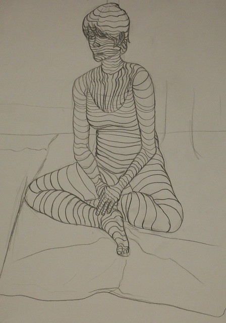Contour Line Drawing App : Michelle gilbert figure with cross contour lines flickr