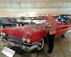 Rep. Miller takes a photo with a 1959 Cadillac Eldorado