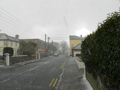Snowing in Bray - in March..
