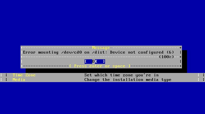 Ошибка монтирования в FreeBSD