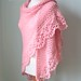 821 Pink crochet shawl by BernioliesDesigns