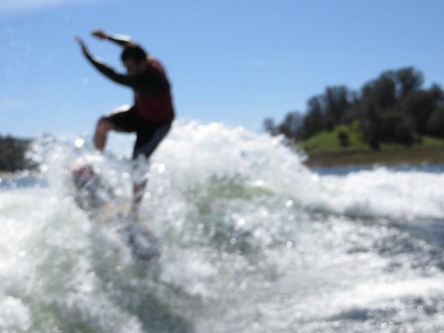 Mid March Wakesurfing 414