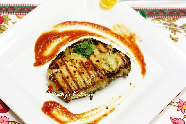 碳烤澄汁香菜豬排 Grilled Pork Chop with Cilantro 2