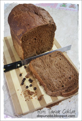 Chocolate Bread Loaf / Roti Tawar Coklat