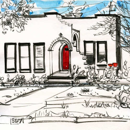 Austin sketches: 307 East Live Oak St.