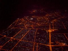 Atterrissage à Dubai de nuit