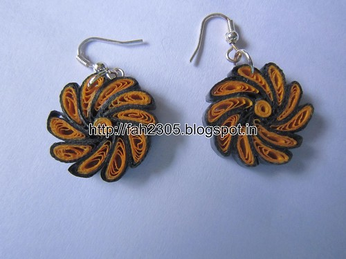 Handmade Jewelry - Paper Quilling Earrings (Twisted Petals) (1) by fah2305