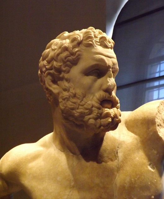 Detail of a Statue of Fighting Hercules in the Capitoline Museum, July 2012